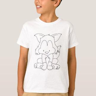 Fox to colourize - renard a colorier T-Shirt