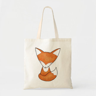 Fox Tote Bag Cute Fox Tote Bag Fox Art Grocery Bag
