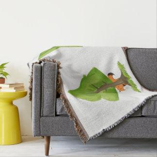 Fox Tree Throw Blanket