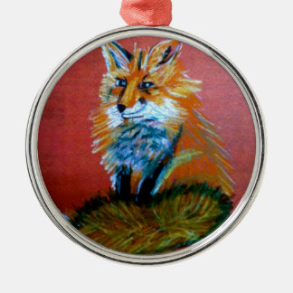 Fox Trot Metal Ornament