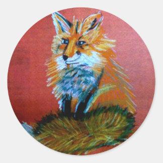 Fox Trot Round Sticker