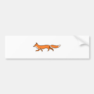 Fox Walking Bumper Sticker