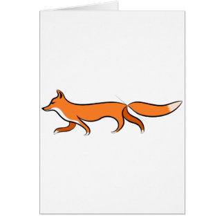 Fox Walking Card