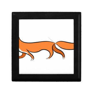 Fox Walking Gift Box