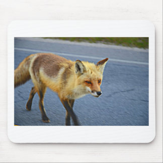 Fox Walking Mouse Pad