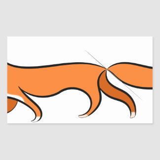 Fox Walking Sticker