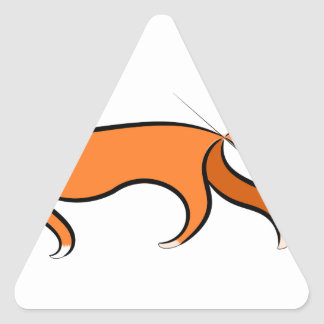 Fox Walking Triangle Sticker