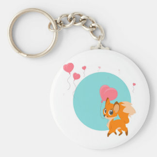 Fox with  Balloon Keychain