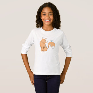 Fox with butterfly longsleeve T-Shirt
