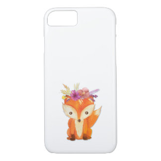 Fox with Flower Crown iPhone 8/7 Case