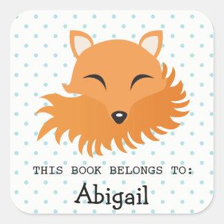 Fox Woodland Animal Emoji Face Dot Sticker