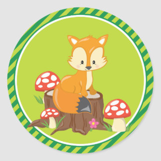 Fox | Woodland Animals Round Sticker