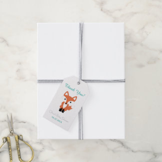 Fox Woodland Baby Shower Pack of Gift Tags