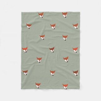 Fox Woodland Creature Fleece Blanket