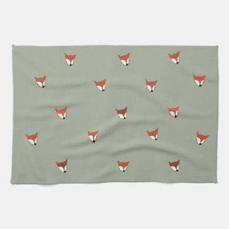 Fox Woodland Creature Kitchen Towel