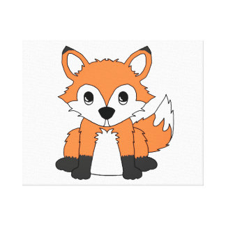 Fox Woodland Forest Animal Baby Nursery Canvas Print
