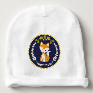 Fox Wreath Personalized Baby Beanie - Boy