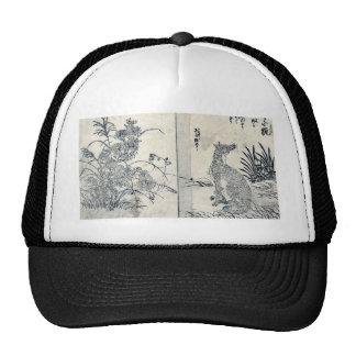 Foxes and chrysanthe by Tachibana, Morikuni Ukiyoe Trucker Hat