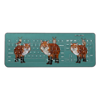 FOXES & ANTLER OWLS WIRELESS KEYBOARD