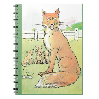 Foxes are Always Hungry Vintage Illustration Notebooks