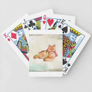 Foxes Bicycle Playing Cards