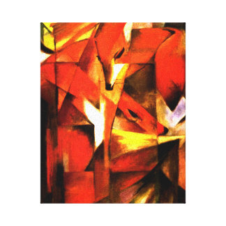 Foxes by Franz Marc Fine Art Canvas Gallery Wrapped Canvas