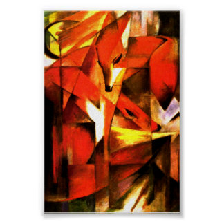 Foxes by Franz Marc Fine Art Poster