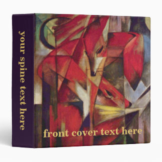 Foxes by Franz Marc, Vintage Abstract Cubism Art 3 Ring Binders