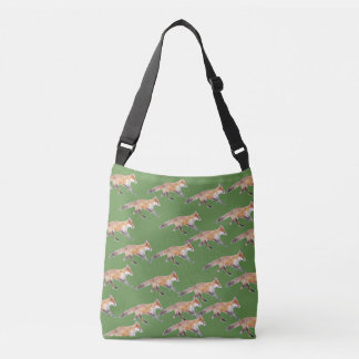 Foxes Galore green over the shoulder bag