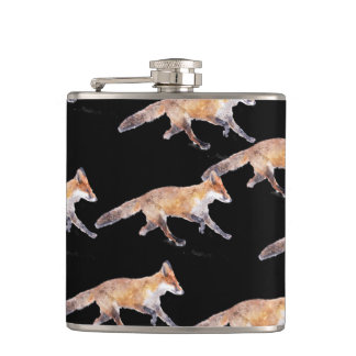 Foxes Galore hip flask