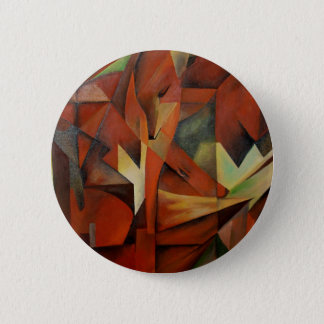 Foxes -  Homage to Franz Marc (1913) 2 Inch Round Button