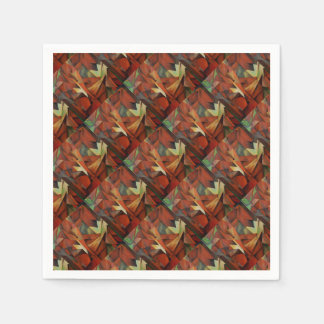 Foxes -  Homage to Franz Marc (1913) Disposable Napkin