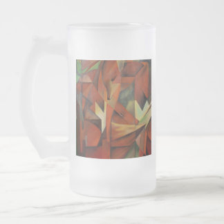 Foxes -  Homage to Franz Marc (1913) Frosted Glass Beer Mug