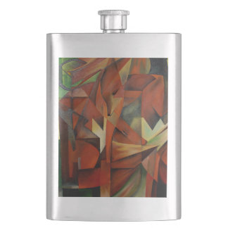 Foxes -  Homage to Franz Marc (1913) Hip Flask