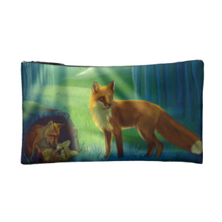 Foxes in the forest cosmetics bags