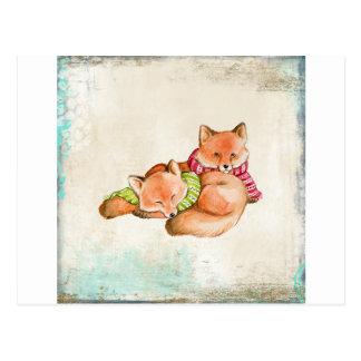 Foxes Postcard