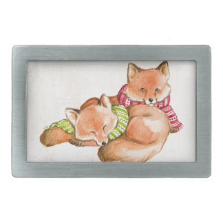 Foxes Rectangular Belt Buckle