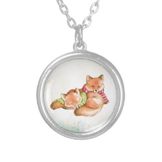 Foxes Silver Plated Necklace