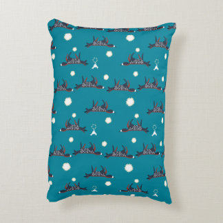 Foxes under the moon in snow pillow