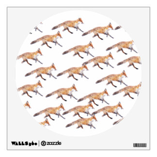 Foxes wall decal
