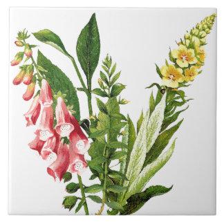Foxglove Floral Flower Botanical Tile