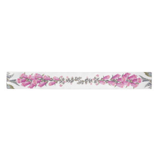 Foxglove Floral Flowers Garden Satin Ribbon