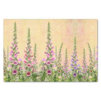 Foxglove flowers design tissue paper