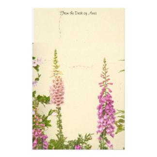 Foxglove Flowers Personalized Stationery