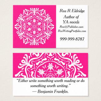 Foxglove Mandala Business Card