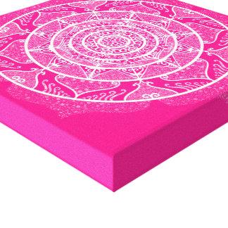 Foxglove Mandala Canvas Print
