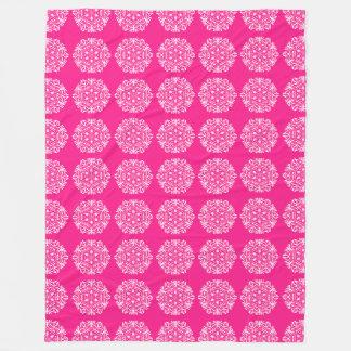 Foxglove Mandala Fleece Blanket