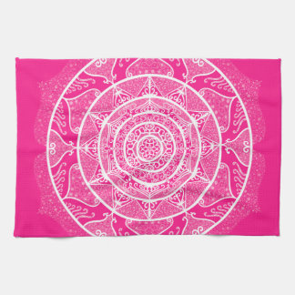 Foxglove Mandala Kitchen Towel