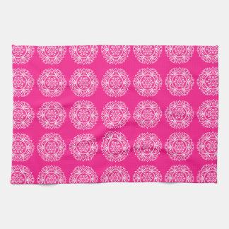 Foxglove Mandala Kitchen Towel