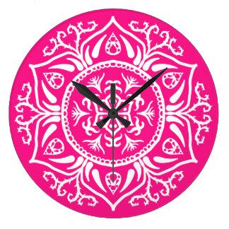 Foxglove Mandala Large Clock